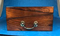 Regency Brass Inlaid Rosewood Writing Slope. (16 of 17)