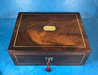 Regency Brass Inlaid Rosewood Writing Slope. (4 of 17)