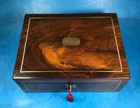 Regency Brass Inlaid Rosewood Writing Slope. (5 of 17)