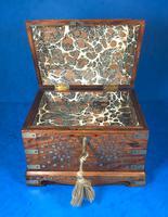 Indian Brass Inlaid Teak Box c.1920 (12 of 14)