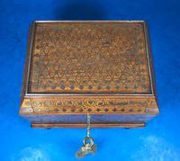 Indian Brass Inlaid Teak Box c.1920 (10 of 14)