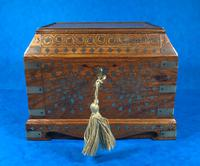 Indian Brass Inlaid Teak Box c.1920 (2 of 14)