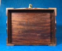 Indian Brass Inlaid Teak Box c.1920 (8 of 14)