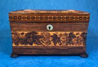 Victorian Rosewood Twin Tea Caddy with Tunbridge Ware Inlay (2 of 11)