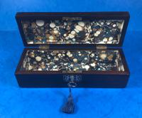 William IV Mother of Pearl Inlaid Rosewood Glove Box (9 of 10)