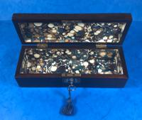William IV Mother of Pearl Inlaid Rosewood Glove Box (10 of 10)