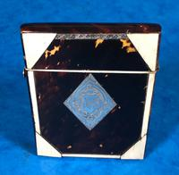 Victorian Tortoiseshell & Bone Card Case (2 of 13)