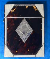 Victorian Tortoiseshell & Bone Card Case (4 of 13)
