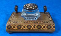 Victorian Pen & Ink Stand in Rosewood with Tunbridge Ware Inlay (4 of 15)