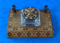 Victorian Pen & Ink Stand in Rosewood with Tunbridge Ware Inlay (8 of 15)