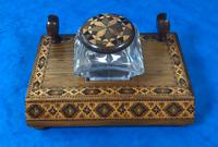Victorian Pen & Ink Stand in Rosewood with Tunbridge Ware Inlay (5 of 15)