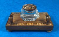 Victorian Pen & Ink Stand in Rosewood with Tunbridge Ware Inlay (7 of 15)