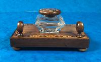 Victorian Pen & Ink Stand in Rosewood with Tunbridge Ware Inlay (2 of 15)