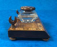 Victorian Pen & Ink Stand in Rosewood with Tunbridge Ware Inlay (3 of 15)