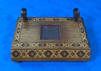 Victorian Pen & Ink Stand in Rosewood with Tunbridge Ware Inlay (10 of 15)