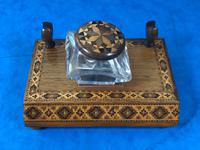 Victorian Pen & Ink Stand in Rosewood with Tunbridge Ware Inlay (14 of 15)