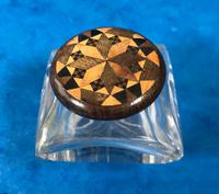 Victorian Pen & Ink Stand in Rosewood with Tunbridge Ware Inlay (9 of 15)