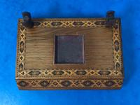 Victorian Pen & Ink Stand in Rosewood with Tunbridge Ware Inlay (12 of 15)