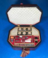 Regency Morocco Leather Sewing Box (10 of 15)