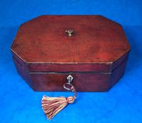 Regency Morocco Leather Sewing Box (2 of 15)