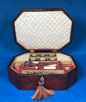 Regency Morocco Leather Sewing Box (8 of 15)