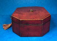 Regency Morocco Leather Sewing Box (3 of 15)