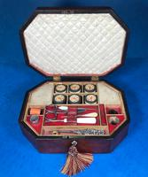 Regency Morocco Leather Sewing Box (9 of 15)
