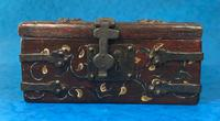 Unusual 17th Century Style Painted & Bound with Iron (4 of 16)