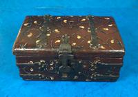 Unusual 17th Century Style Painted & Bound with Iron (2 of 16)