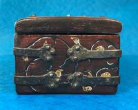 Unusual 17th Century Style Painted & Bound with Iron (8 of 16)