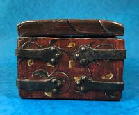 Unusual 17th Century Style Painted & Bound with Iron (5 of 16)