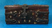 Unusual 17th Century Style Painted & Bound with Iron (3 of 16)