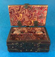 Unusual 17th Century Style Painted & Bound with Iron (12 of 16)