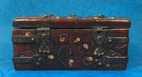 Unusual 17th Century Style Painted & Bound with Iron (7 of 16)