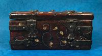 Unusual 17th Century Style Painted & Bound with Iron (6 of 16)