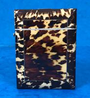 Victorian  Tortoiseshell Card Case with Pewter Inlay (5 of 8)