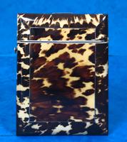 Victorian  Tortoiseshell Card Case with Pewter Inlay (7 of 8)