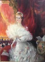 John Strevens Oil Painting ' Une Agreable Soirée '