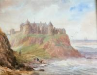 Joseph William Carey Watercolour' Dunluce Castle, County Antrim, Northern Ireland'