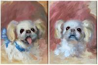 John Strevens Pair of Oil Paintings 'Dog Portraits'