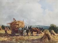 George Hamilton Constantine Watercolour 'Harvest Time'