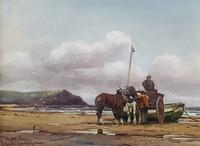 George Hamilton Constantine Watercolour  'Scalby Ness, Scarborough'