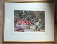 William Hough Watercolour 'Still-Life of Strawberries and Plums' (2 of 2)