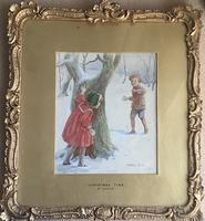 Eveline Lance Pair Watercolours 'Gee-Up '&'Christmas Time' (5 of 5)