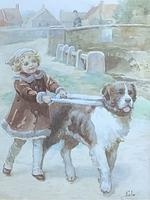 Eveline Lance Pair Watercolours 'Gee-Up '&'Christmas Time' (2 of 5)
