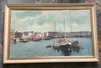 Phyllis Morgans Oil Painting 'the Harbour, Lowestoft' (2 of 2)