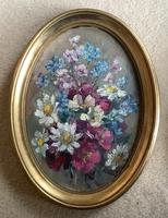 Phyllis Morgans Pair Oil Paintings 'Spring Posy' &'Spring Bunch' (2 of 3)