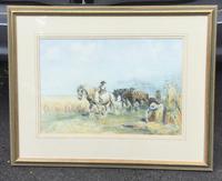 Nathaniel Hughes John Baird Watercolour 'Harvest Time' (2 of 2)