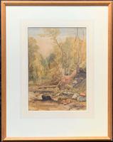 Henry Barlow Carter R.A Original 1830 Woodland Watercolour Painting