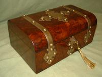 Quality Burr Walnut Dome Top Box c.1880